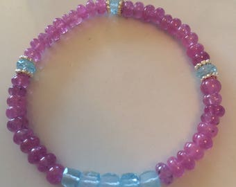 Sapphire and topaz bracelet