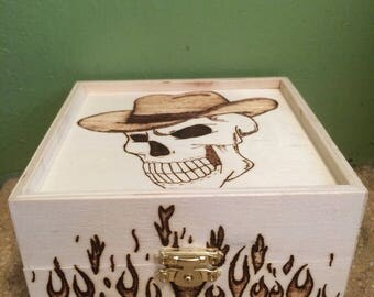 Skull and Flames Box