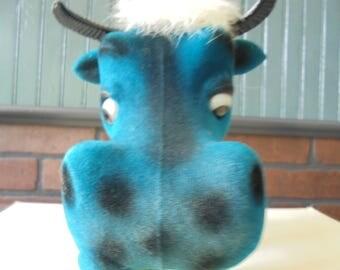 Vintage Carnival Prize  Velvet Cow Bank