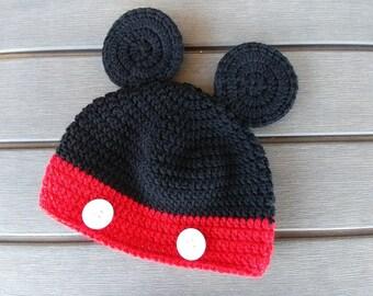 Mickey and minnie crochet hat pattern