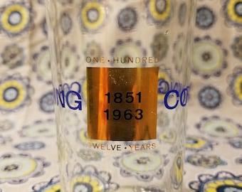 Corning 112 years drinking glass