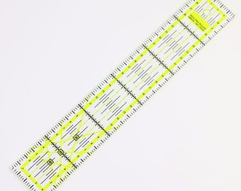 1pc / DIY Sewing Patchwork Essential Tools Patchwork Foot Sewing Ruler Acrylic Handmade Black + Yellow Bottom Plaid Patchwork