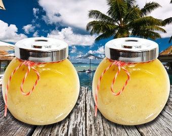 Salt Scrub Orange 8oz. Jar--Exfoliating Scrub