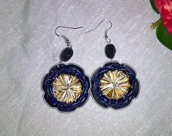 Blue Pierced Earring