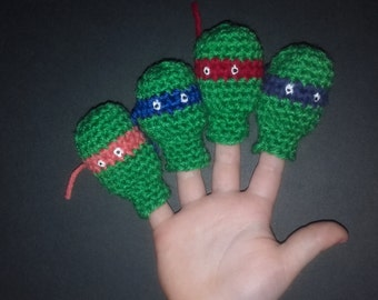 Ninja turtles finger puppets