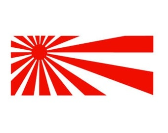 JAPANESE FLAG- Sun Rays- Quality Vinyl Decal, Motorcycle, Fairing Decal, Tank Decal, Car Decal, Yeti Decal, Do The Ton, FAST Shipping!!
