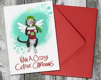 Have A Cozy Coffee Christmas – Christmas Card