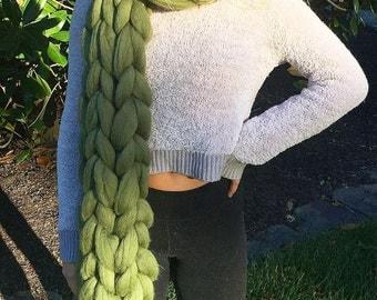 Super long chunky scarf. XXL Knit scarf. Chunky wool scarf