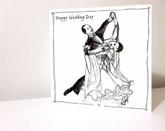 Wedding Card Ballroom Dancing Waltz First Dance Dancesport