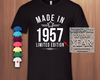 Made In 1957 Limited Edition60th Birthday Gift T Shirt60th Bday