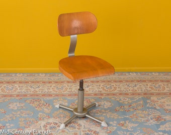 50s work chair, architecture chair, vintage (611045)