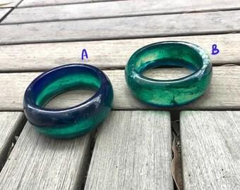 Ocean blue/turquoise resin bangle