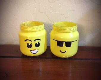 Mini Lego Mason Jars