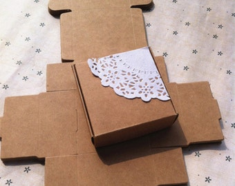 50pcs  6.2*6.2*3.2cm Handmade soap box Kraft paper boxes small boxes of jewelry box candy box