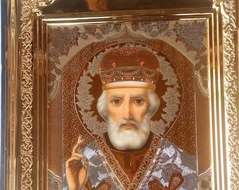 Orthodox framed icon of St. Nicholas