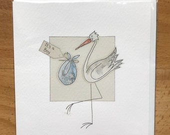 Its a boy delivered by stork greeting card