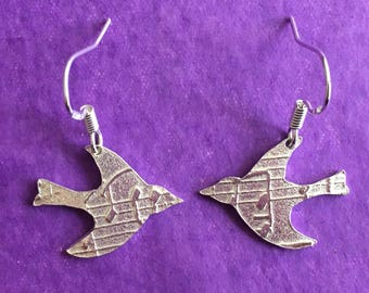 Songbird sterling silver earrings