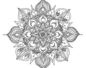 Organic Eastern Mandala - Colouring Sheet