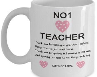 No 1 Teacher coffee mug gift for teachers