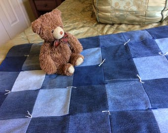 Denim blanket perfect for baby or warming a lap