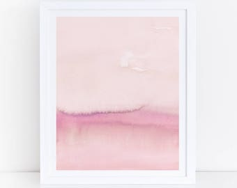 Pink Abstract Art, Pink Watercolor Print, Blush Print, Modern Abstract Art, Abstract Wall Art, Abstract Print, Abstract Printable,  Pastel
