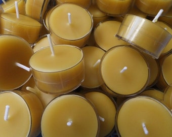 100% Bees Wax Tea Light Candles  (Set of 10, 20 or 30)