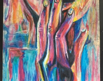 Expressionistic Oil Pastel Art