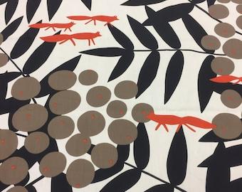 Fabric,rigid Cotton canvas fabric, Scandinavian fabric , Acrylic coated with fox