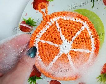 Nylon Dish Scrubbies Crochet Pot Scrubbers orange