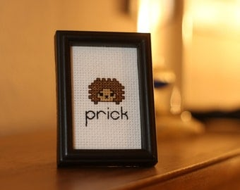 Hedgehog 'Prick' Cross Stitch Pattern - instant download