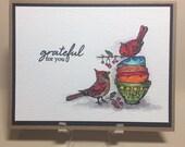 Handmade Card - Grateful for you!