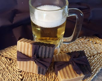 Black & Tan Beer Soap