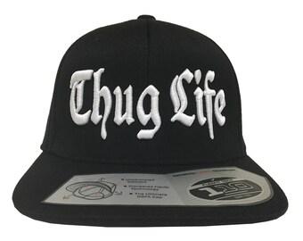 Thug Life 3D Embroidery  on a 110 Snapback Flexfit