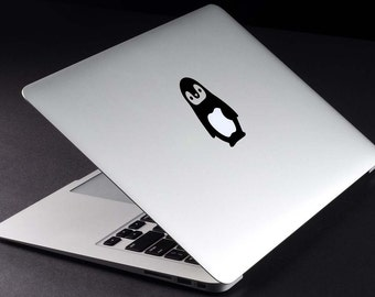 Penguin Decal Macbook Vinyl Sticker Macbook Retina Decal Penguin Sticker Animal DEcal