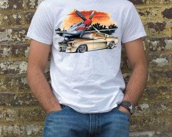 Mustang hot rod  / rat rod t-shirt