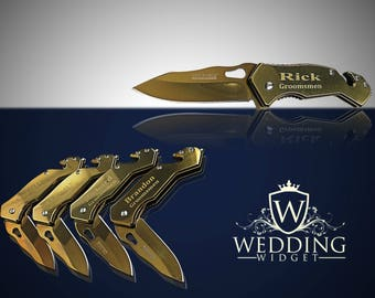 1 Personalized Knife - Groomsmen engraved gift - Personalize engraved tactical knife - Wedding gifts and Mementos -Best Man & Officiant gift