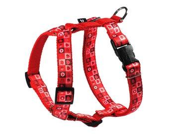 Dog harness HEARTS Mysmo, Dog H-Harness, Guard type harness, Red Harness, Triangle Harness, Polygon Harness, Pet Supplies