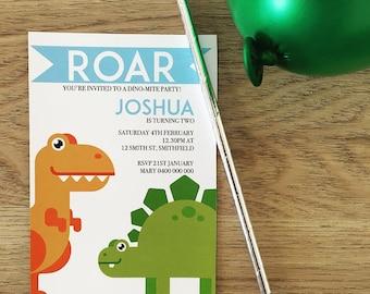 Dinosaur Birthday Boy Printable or Printed Invitation