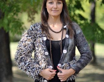 Short Vest, Brown Short Vest, Womens Vest, Short Womens Vest, Brown Womens Vest, Trendy Vest, Fashion Vest, Vintage Vest, Handmade Vest
