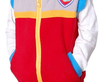 Paw Patrol Theme Party - Inspired Costume Ryder Vest  Unisex kids & Adult True 2 Pockets Patch Embroidery Gift Birthday  Cosplay Halloween