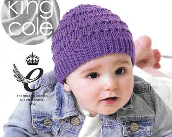 Knitting pattern.  King Cole 4651 D.K.   6 different hats.   Age 6 months ~ 7 years.