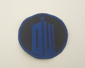 Doctor Who Inspired Iron On Embroidered Fabric Patch for Clothes