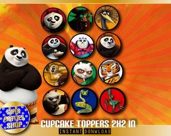 Kung Fu Panda Digital  Printable Party Cupcake Toppers , kung fu panda Party, Kung Fu Panda toppers ,kung fu panda Birthday, kung fu panda