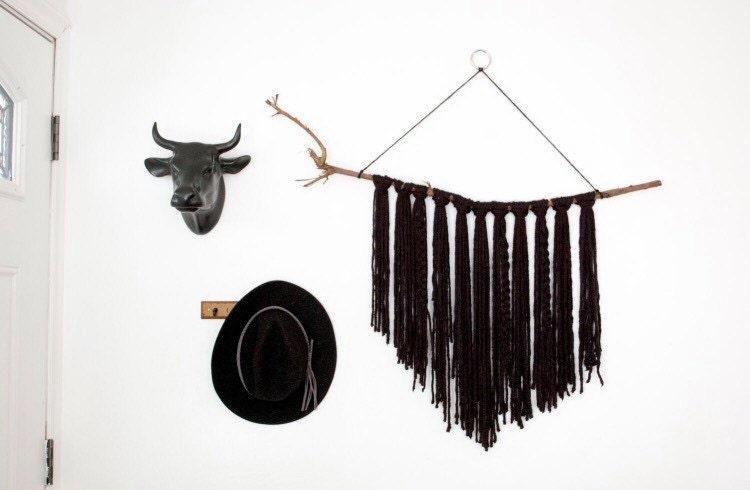 Large yarn wall hanging | bohemian decor | boho wall decor ...