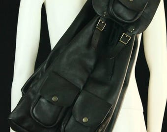 Leather backpack, leather bag, leather satchel, handmade