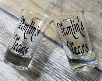Tamlin's tears shot glasses, Acomaf, Acowar, spring court, Sarah j MAAS, A court of mists and fury, bookish shot glass, Tog, acotar, yalit