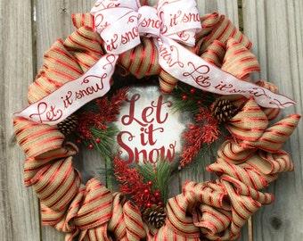 Let It Snow Christmas Wreath