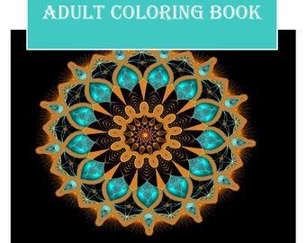 Printable Coloring Book with 25 Adult Coloring pages included