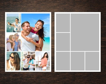 Photo Collage Template 8,5 x 11, collage template, photo template, Storyboard Template, Photographer Template, PSD template 8,5 x 11 #1