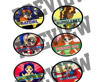 """DC Superhero Girls 1.5"""" Cupcake Toppers Birthday Party Decorations"""